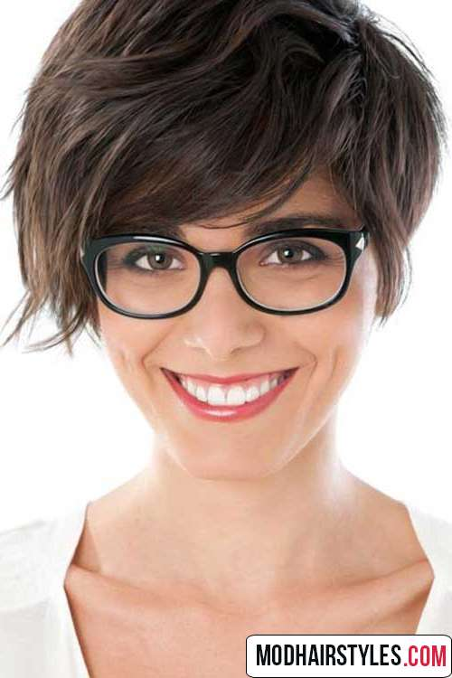 stylish layered short haircut