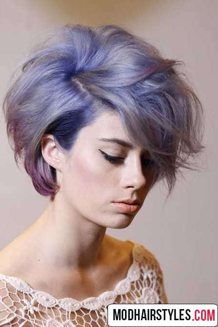 Short creative hairstyle idea