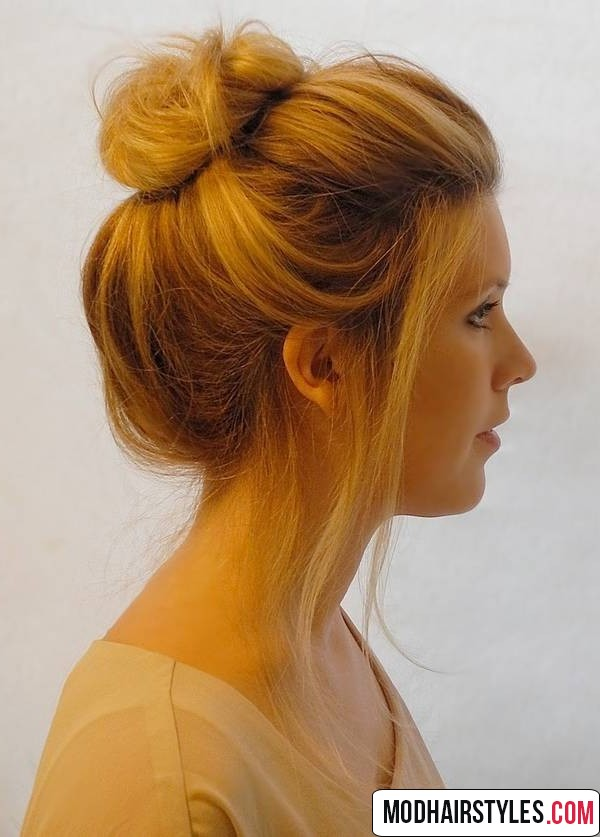 Bun hairstyles for short hair - 20 charming bun hairstyles