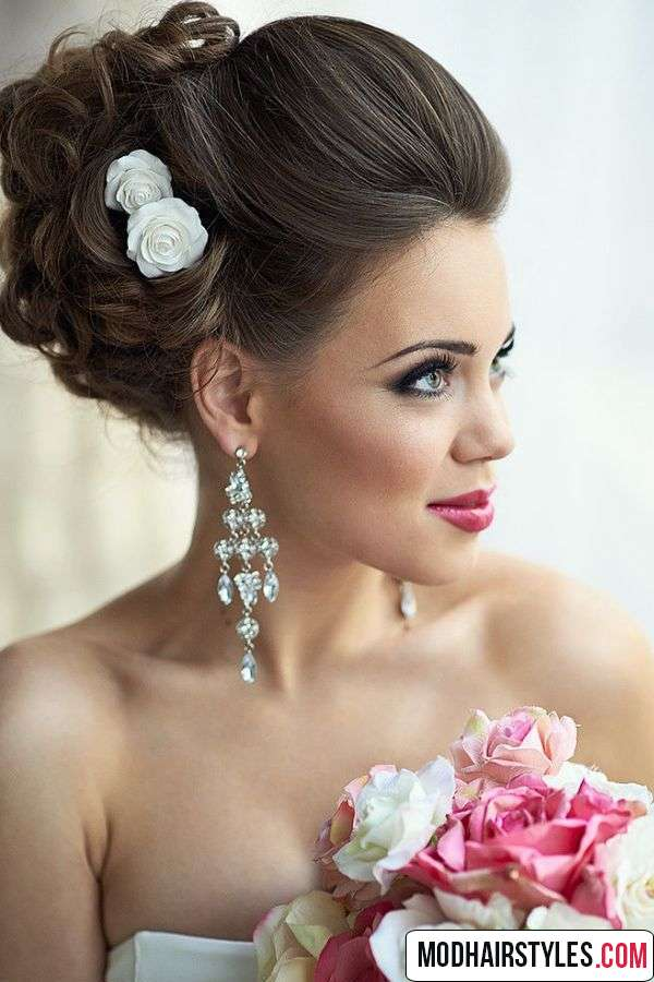 Wedding Hairstyles For Medium Length Hair To The Side Great Decorations