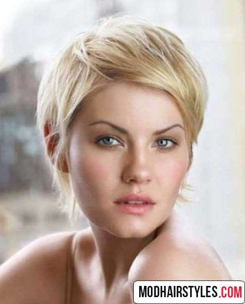 Short pixie shag hairstyle