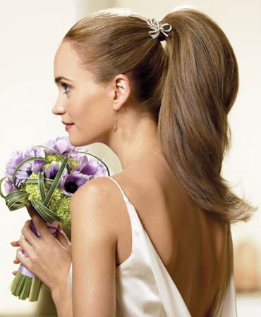 stylish bun wedding hairstyle