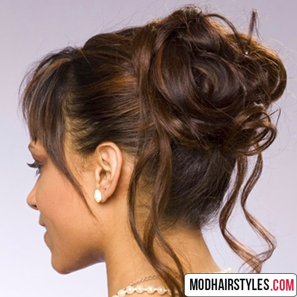 Updo hairstyles for medium length hair updo hairstyle striking medium updo hair pmusecretfo Image collections