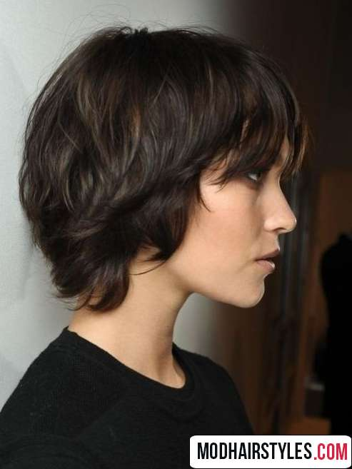 short haiirstyle idea for thick hair