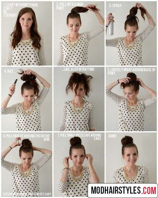 bun hairstyle idea