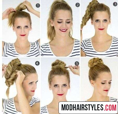 stylish easy bun hairstyle
