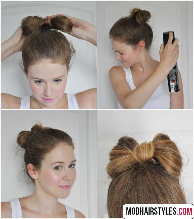 easy bun hairstyle